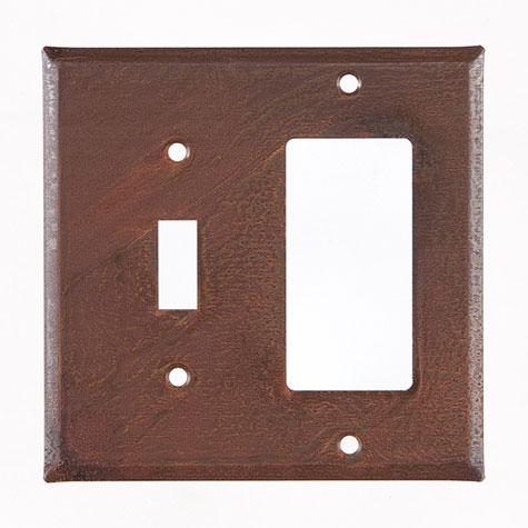 Unpierced Rustic Tin Wall Plate
