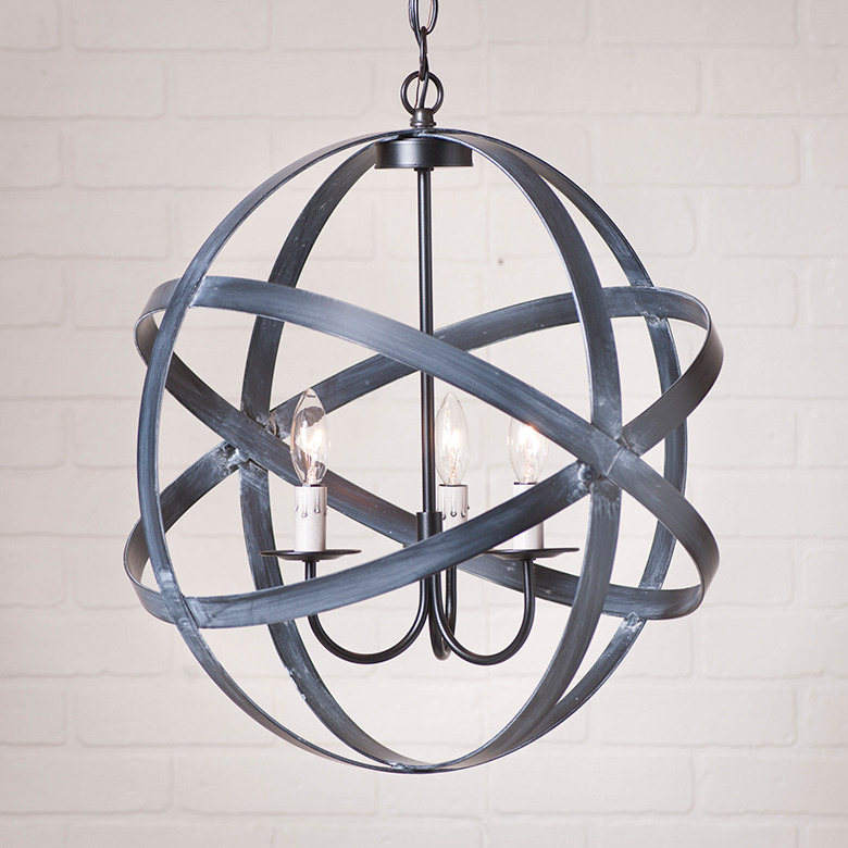 18 inch strap sphere chandelier irvins tinware quick view aloadofball Image collections