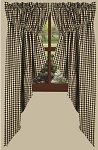 Heritage House Check Curtain Collection, Black