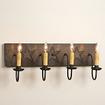 Four-Arm Tin Star Vanity Light