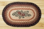 Pinecone Red Berry Braided Rug