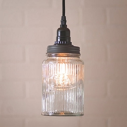 Ribbed Jar Pendant Light
