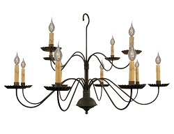 Monticello Twelve-Arm Two-Tier Chandelier