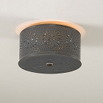 Round Ceiling Light with Chisel Design
