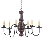 Maple Glenn Americana Six-Arm Chandelier