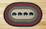 Black Bears Braided Rug
