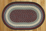 Blue/Burgundy Braided Rug