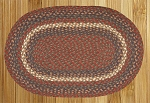 Burgundy/Gray Braided Rug