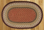 Burgundy/Mustard Braided Rug