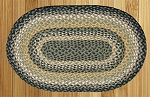 Black/Mustard/Creme Braided Rug