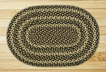 Ebony/Ivory/Chocolate Braided Rug
