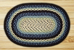 Blueberry/Creme Braided Rug