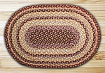 Burgundy/Gray/Creme Braided Rug