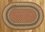 Olive/Burgundy/Gray Braided Rug