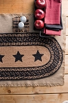 Farmhouse Stencil Star Jute Runner