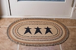 Kettle Grove Stencil Star Jute Rug Collection