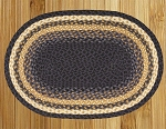Light Blue/Dark Blue/Mustard Braided Rug