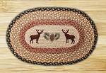 Deer-Pinecone Braided Rug