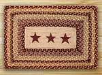 Burgundy Stars Braided Rug