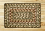 Fir/Ivory Braided Rug
