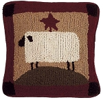 Sheep with Star Pillow