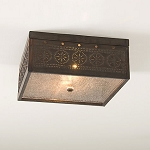 Square Ceiling Light with Chisel Design