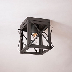 Single Ceiling Light with Folded Bars