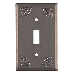 Chisel Design Blackened Tin Wall Plates