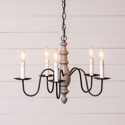 Country Inn Rustic Five-Arm Chandelier