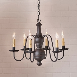 Medium Chesterfield Americana Six-Arm Chandelier