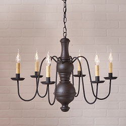 Large Chesterfield Americana Six-Arm Chandelier