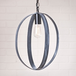 16 Inch Oval Sphere Pendant Light