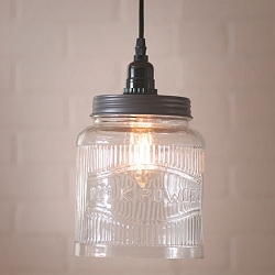 Large Ribbed Jar Pendant Light