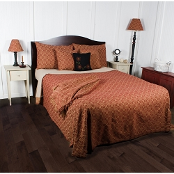 Marshfield Jacquard Barn Red Bedding Collection