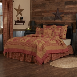 Ninepatch Star Quilted Bedding
