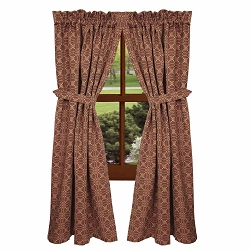 Marshfield Jacquard Barn Red Curtain Collection