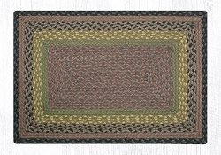 Brown/Black/Charcoal Braided Rug