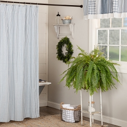 Sawyer Mill Blue Ticking Shower Curtain