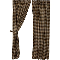 Black Check Curtain Collection