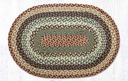 Buttermilk/Cranberry Braided Rug