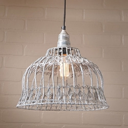Flower Industrial Cage Pendant Light