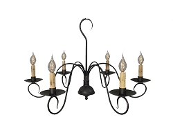 Franklin Six-Arm Chandelier