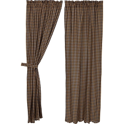 Navy Check Curtain Collection