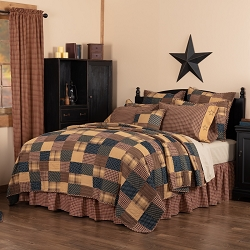 Patriotic Patch Quilted Bedding