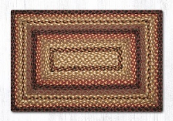 Black Cherry/Choc./Creme Braided Rug
