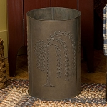 Willow Punched Tin Waste Basket