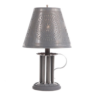 Round Seven-Mold Candle Lamp with Chisel Shade