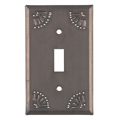 Chisel Design Blackened Tin Wall Plate