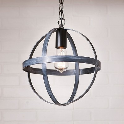 12 Inch Strap Sphere Pendant Light