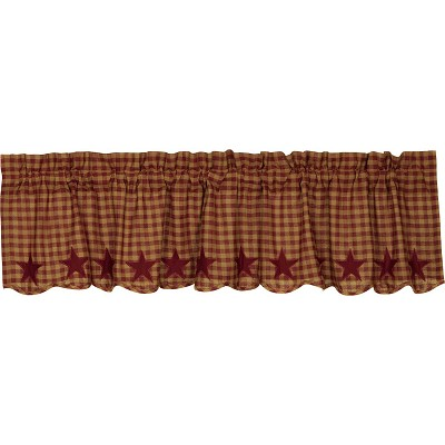 Burgundy Star Curtain Collection